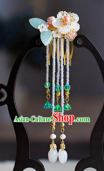 Chinese Traditional Palace Hair Accessories Xiuhe Suit Tassel Hair Comb Ancient Hairpins for Women