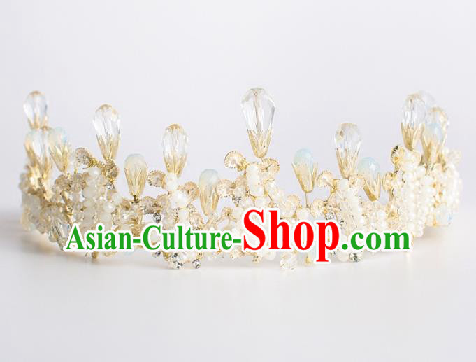 Baroque Bride Hair Accessories Princess Royal Crown Wedding Classical Crystal Imperial Crown for Women