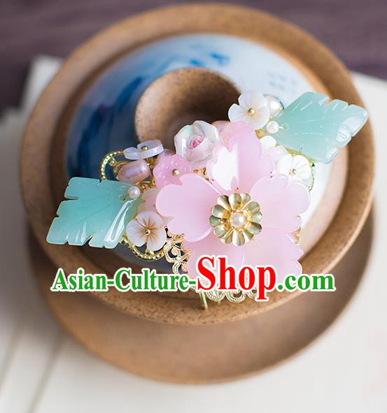 Chinese Traditional Palace Hair Accessories Flowers Hair Comb Ancient Xiuhe Suit Hairpins for Women