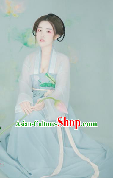Traditional Chinese Ancient Palace Lady Dress Tang Dynasty Princess Embroidered Costume for Women
