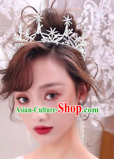 Top Grade Handmade Hair Jewelry Accessories Baroque Royal Crown Bride Crystal Imperial Crown for Women