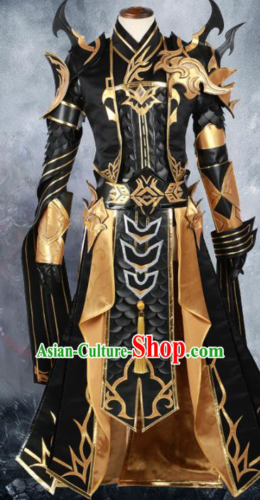 Chinese Ancient Cosplay General Warrior Costume Swordsman Body Armour for Men