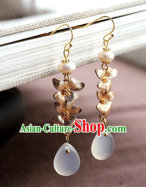 Chinese Ancient Handmade Classical Earrings Accessories Hanfu Eardrop for Women