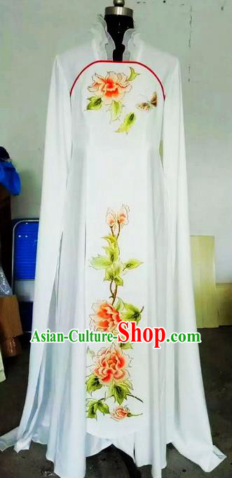 Chinese Traditional Beijing Opera Actress Costumes China Peking Opera Embroidered Peony Dress for Adults