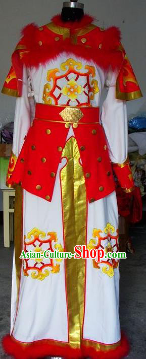 Chinese Traditional Shaoxing Opera Takefu Clothing Peking Opera General Embroidered Costumes for Adults