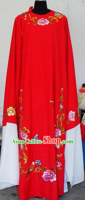 Chinese Traditional Shaoxing Opera Niche Red Robe Clothing Peking Opera Scholar Costume for Adults