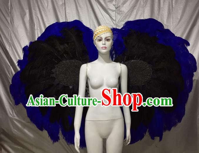 Top Grade Brazilian Carnival Samba Dance Catwalks Feather Angel Wings for Women