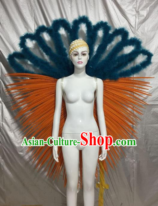 Top Grade Brazilian Carnival Samba Dance Prop Catwalks Feather Angel Wings for Women