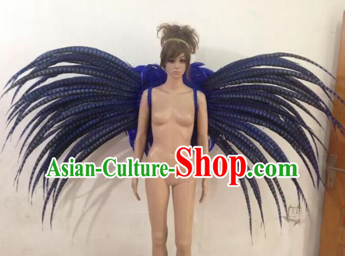 Customized Catwalks Props Brazilian Rio Carnival Samba Dance Ostrich Feather Deluxe Wings for Women