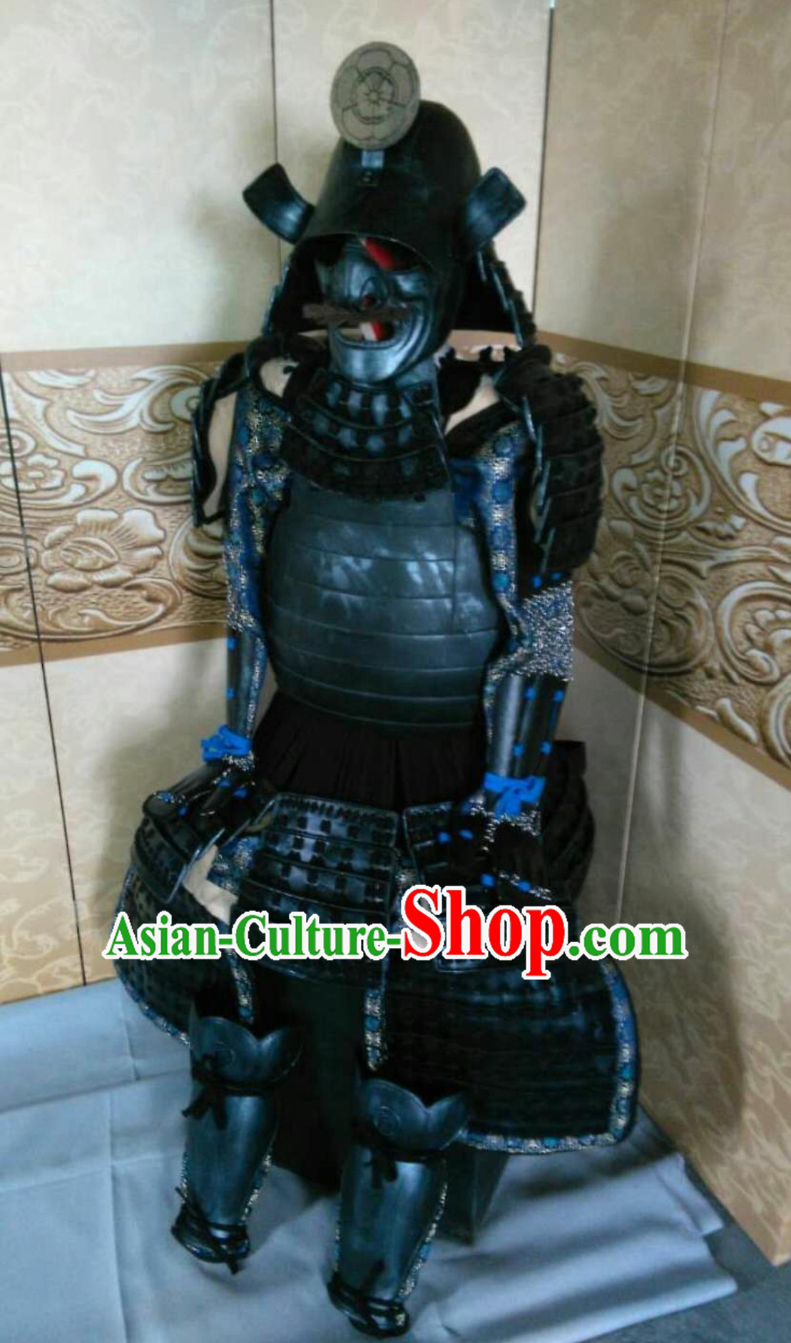 Ancient Asian Classical Japanese General Samurai Armor Replica Authentic Samurai Outfit Clothes Complete Set for Men