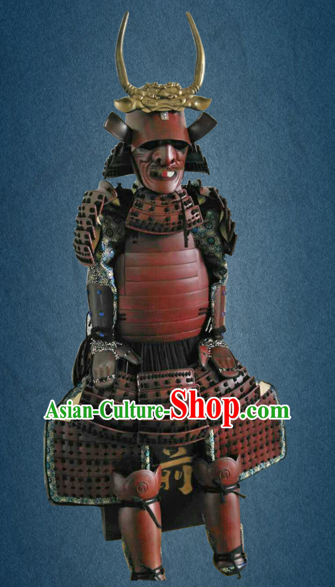 Ancient Asian Classical Japanese Samurai Armor Tatto Buy Replica Authentic Samurai Outfit Parts Clothes Complete Set for Men for Sale