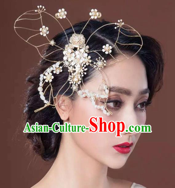 Handmade Wedding Hair Accessories Baroque Bridal Butterfly Hair Stick Headwear for Women