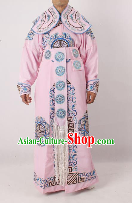 Professional Chinese Peking Opera Takefu Embroidered Pink Costume for Adults