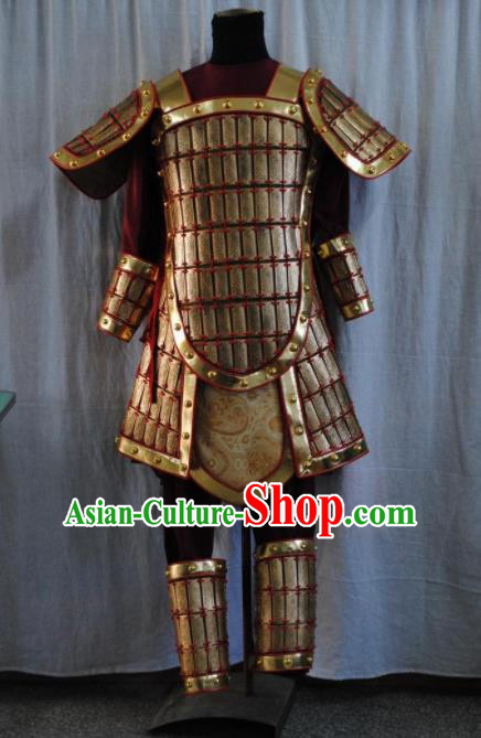 Top Grade Chinese Handmade Ancient Armor Warrior Armour Suit for Men