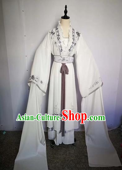 Chinese Traditional Peking Opera Actress Silk Dress Beijing Opera Princess Embroidered Costumes for Adults