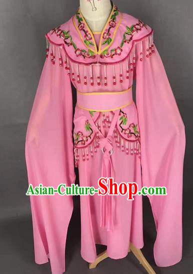 Chinese Ancient Peking Opera Children Pink Dress Traditional Beijing Opera Diva Costumes for Kids
