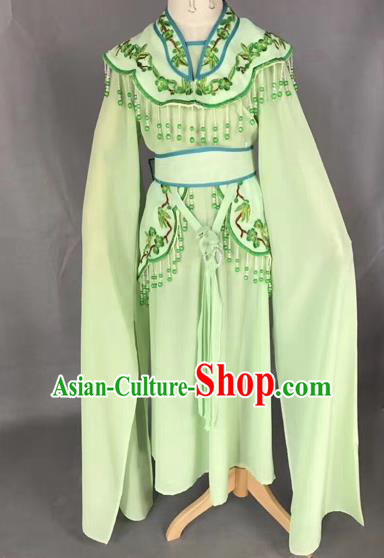 Chinese Ancient Peking Opera Children Green Dress Traditional Beijing Opera Diva Costumes for Kids