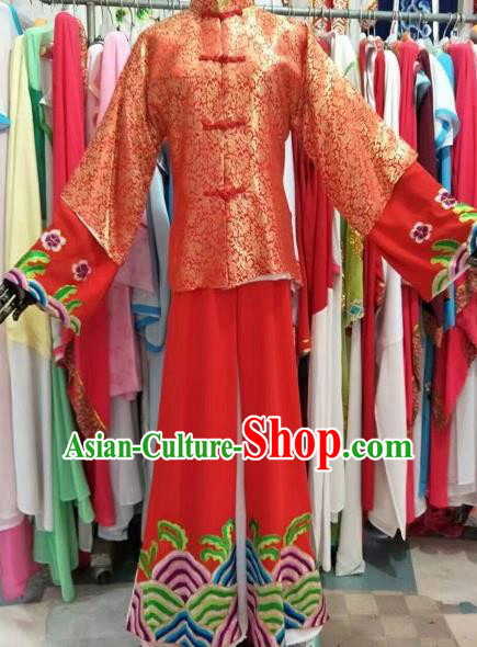 Chinese Traditional Beijing Opera Bridegroom Red Costume Peking Opera Niche Clothing for Adults