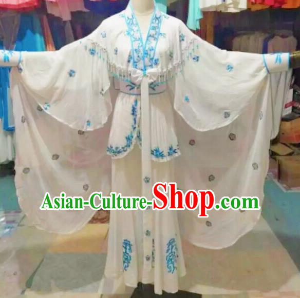 Traditional Chinese Peking Opera Diva Costume Beijing Opera Madam White Snake Dress for Adults