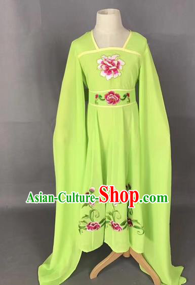 Traditional Chinese Peking Opera Diva Costume Beijing Opera Green Dress for Kids
