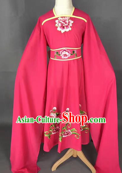 Traditional Chinese Peking Opera Diva Costume Beijing Opera Rosy Dress for Kids