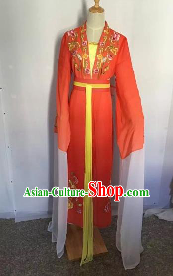Chinese Peking Opera Princess Fairy Red Dress Traditional Beijing Opera Diva Costume for Adults