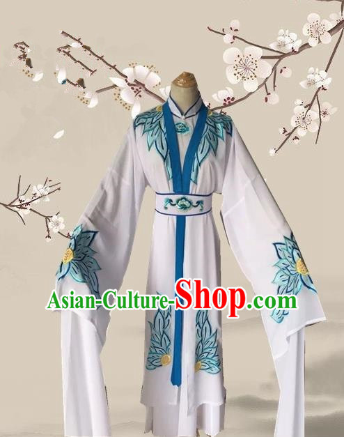 Chinese Ancient Buddhist Nun Hanfu Dress Traditional Beijing Opera Actress Costume for Adults