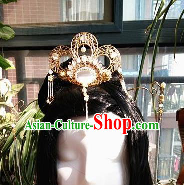 Chinese Ancient Qing Dynasty Hair Accessories Palace Phoenix Coronet Hairpins for Women