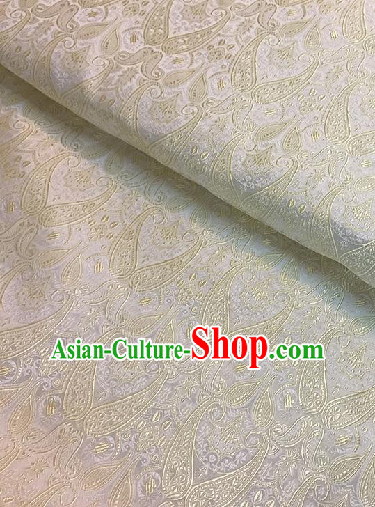 Asian Chinese Brocade Traditional White Pattern Fabric Silk Fabric Chinese Fabric Material