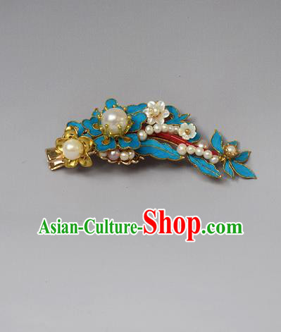 Chinese Ancient Qing Dynasty Palace Tian-Tsui Hair Claw Hair Accessories Handmade Hairpins for Women