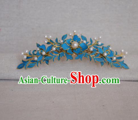 Chinese Handmade Hair Accessories Hairpins Ancient Hanfu Pearls Hair Comb for Women