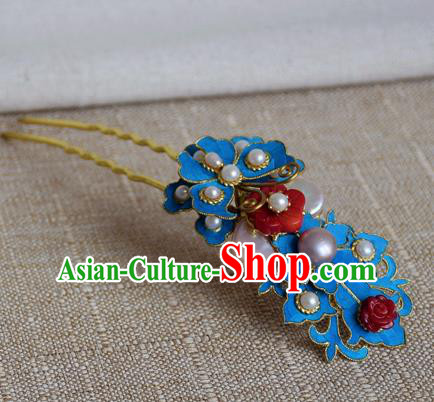 Chinese Handmade Qing Dynasty Palace Lady Hairpins Hair Accessories Ancient Hanfu Hair Clip for Women