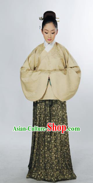 Traditional Chinese Ming Dynasty Marquise Costume Ancient Palace Lady Blouse and Skirt for Women
