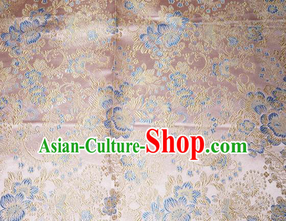 Chinese Traditional Pink Silk Fabric Tang Suit Brocade Cheongsam Classical Pattern Cloth Material Drapery
