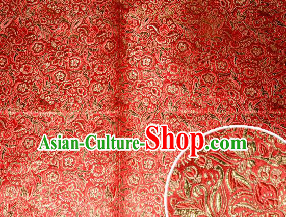 Chinese Traditional Cheongsam Silk Fabric Tang Suit Brocade Classical Golden Pattern Cloth Material Drapery