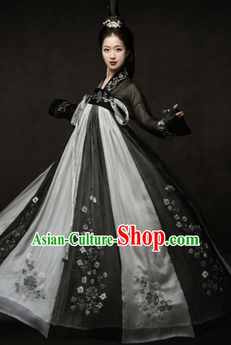 Chinese Ancient Palace Princess Hanfu Dress Traditional Tang Dynasty Imperial Consort Embroidered Replica Costumes for Women
