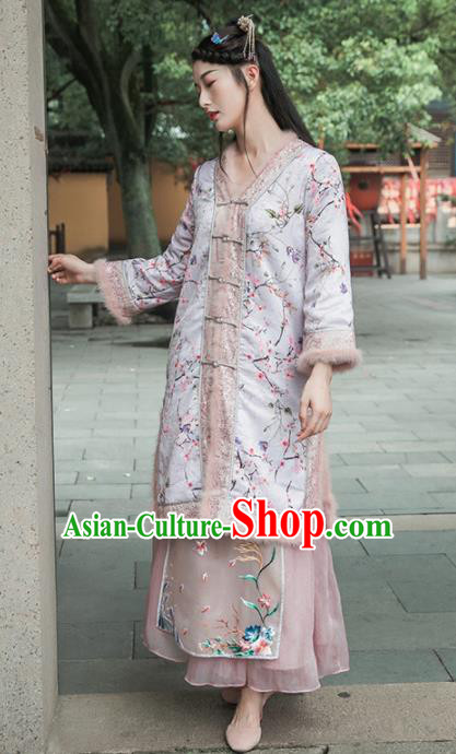 Chinese Traditional Costumes National Coat Tang Suit Overcoat for Women