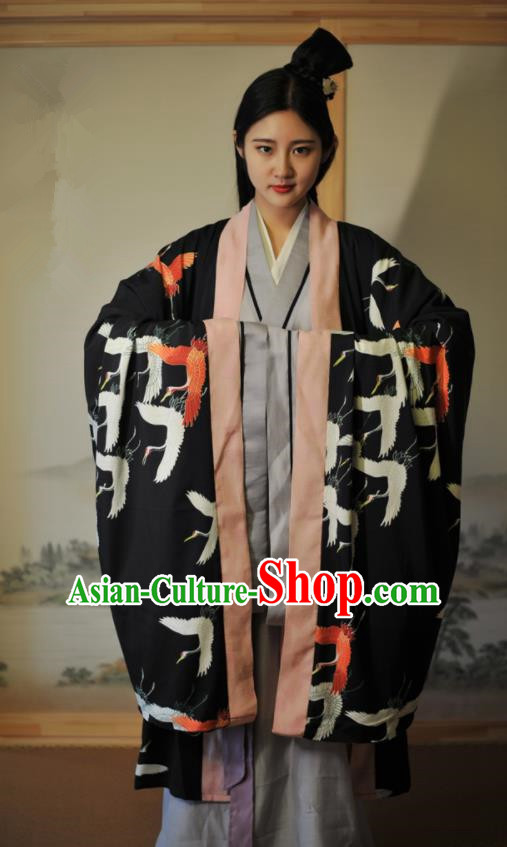 Traditional Chinese Han Dynasty Historical Costumes Ancient Aristocratic Lady Peri Hanfu Dress for Women