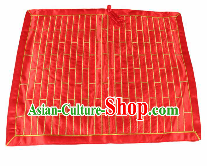 Chinese Traditional Buddhist Monk Costumes Buddhism Monks Red Cassock for Men