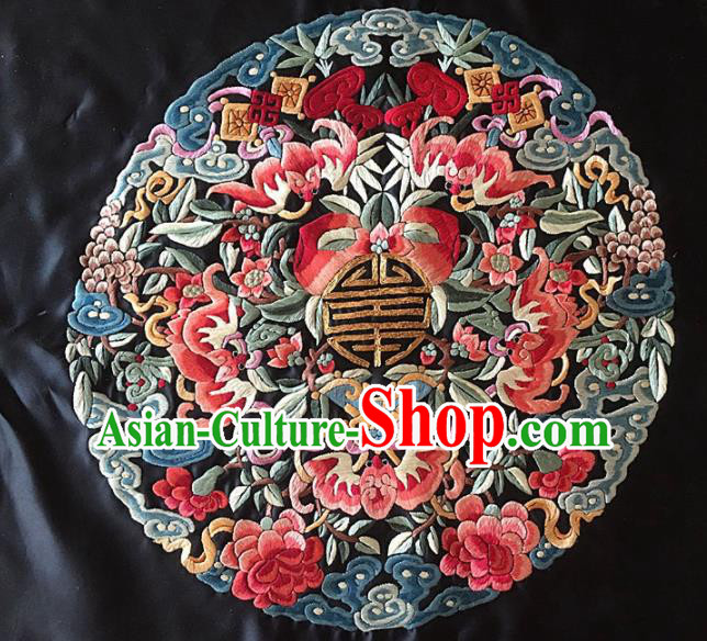 Asian Chinese Traditional Embroidered Silk Patches Handmade Embroidery Craft