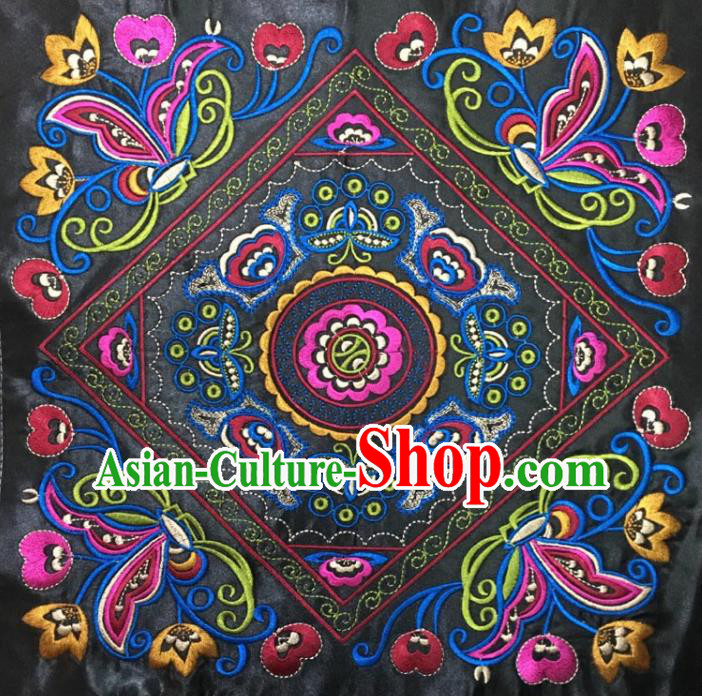 Chinese Traditional National Embroidered Butterfly Flowers Applique Dress Patch Embroidery Cloth Accessories