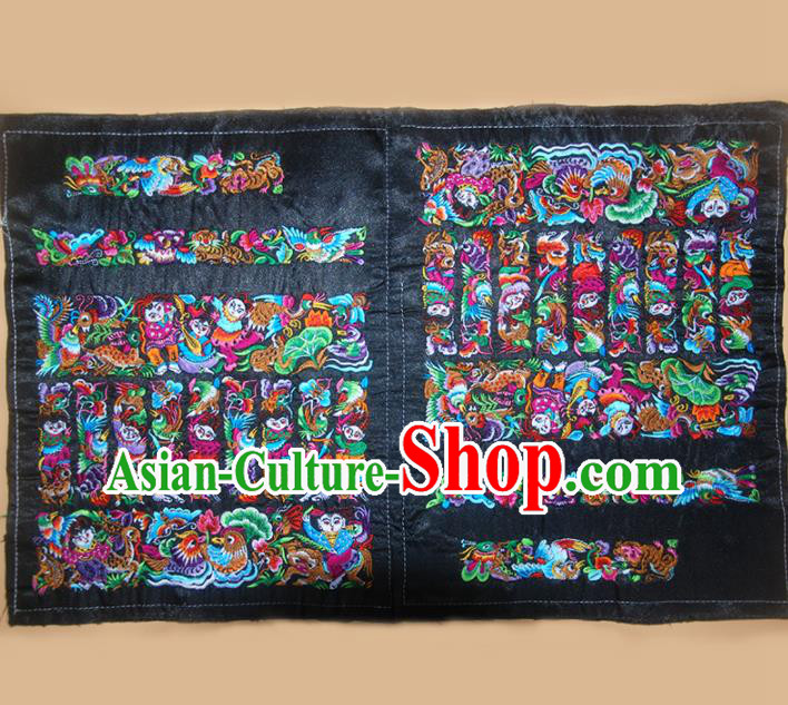 Chinese Traditional Embroidered Mandarin Duck Applique National Dress Patch Embroidery Cloth Accessories