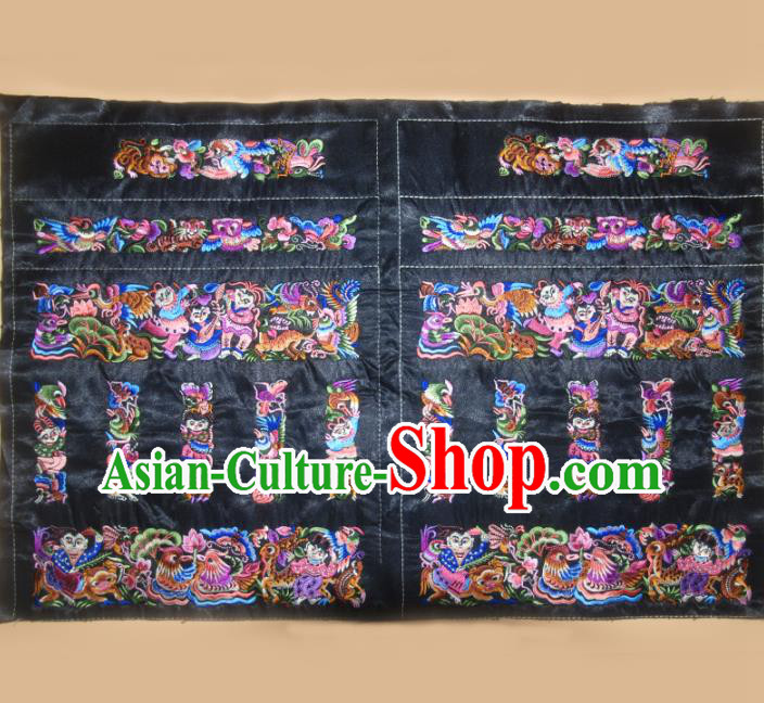 Chinese Traditional Embroidered Purple Mandarin Duck Applique National Dress Patch Embroidery Cloth Accessories