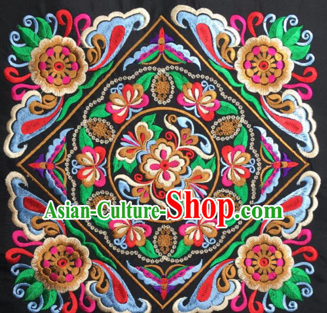 Chinese Traditional Embroidered Flowers Applique National Dress Patch Embroidery Cloth Accessories