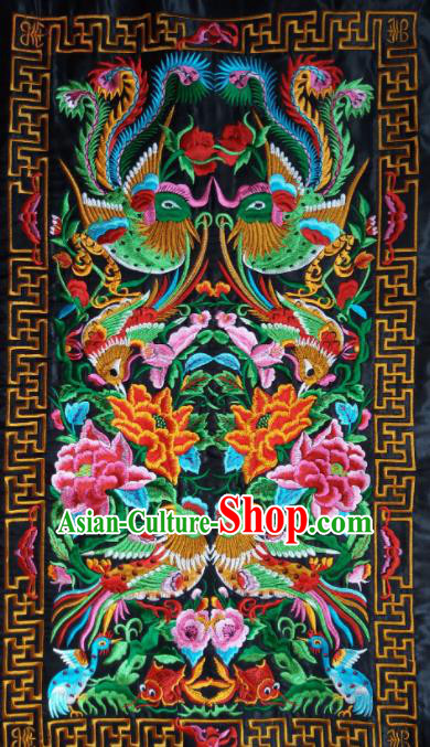Chinese Traditional Embroidered Crane Peony Applique National Dress Patch Embroidery Cloth Accessories