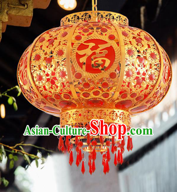 Traditional Chinese Handmade Lantern New Year Hanging Lantern Asian Palace Ceiling Lanterns Ancient Lantern