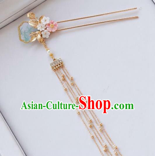 Traditional Chinese Hanfu Tassel Hair Clip Ancient Court Queen Hairpins Handmade Hair Accessories for Women