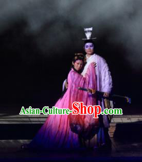 Chinese The Legend of Zhugeliang Three Kingdoms Period Lv Bu and Diao Chan Stage Performance Dance Costumes for Women for Men