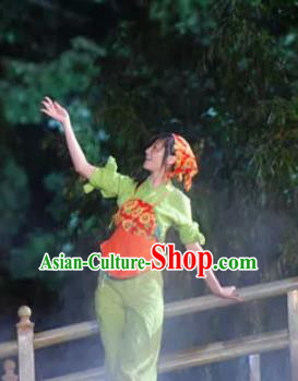 Chinese Shaolin Zen Music Ritual Folk Dance Dress Stage Performance Costume for Women