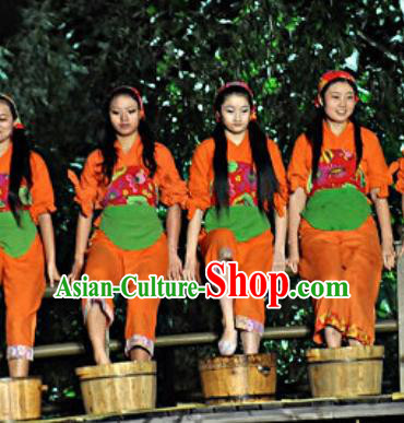 Chinese Shaolin Zen Music Ritual Folk Dance Fan Dance Red Dress Stage Performance Costume for Women